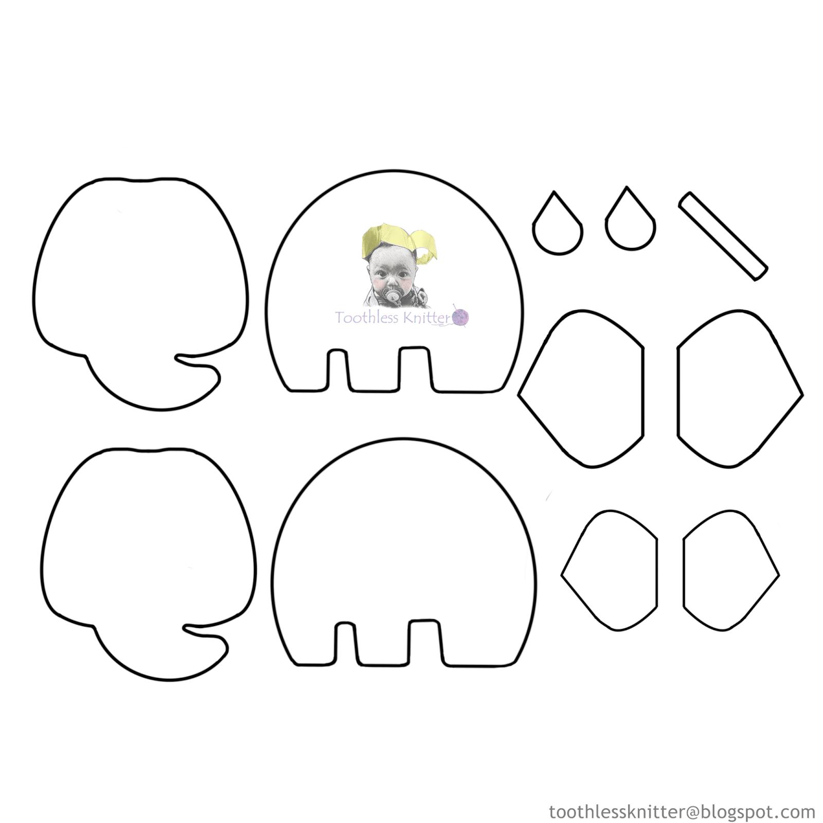 Felt Baby Name Banner for Nursery - Elephant/ Filcowy Baner Imienny do Pokoju Dziecięcego - Słoń