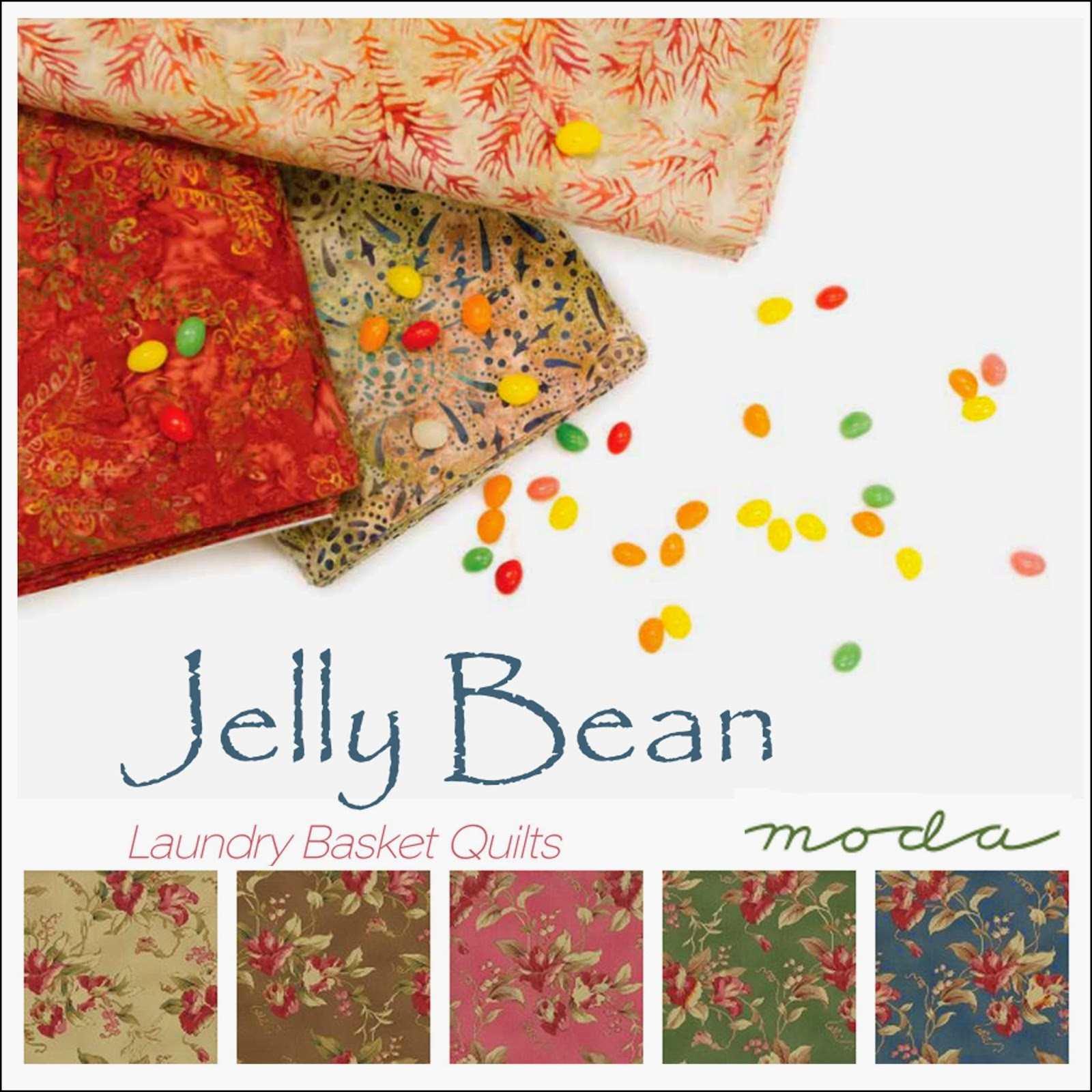 Moda JELLY BEAN Prints and Batiks Quilt Fabric by Edyta Sitar of Laundry Basket Quilts