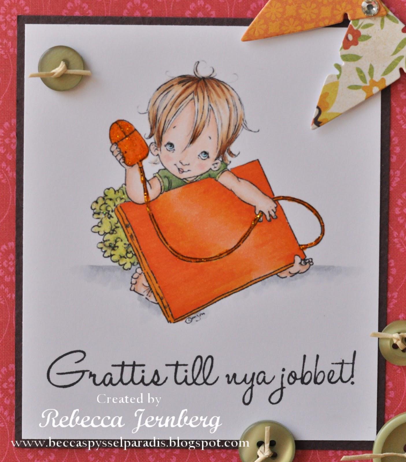 grattis till nya jobbet vykort Beccas Pysselparadis: Grattis till nya jobbet! grattis till nya jobbet vykort