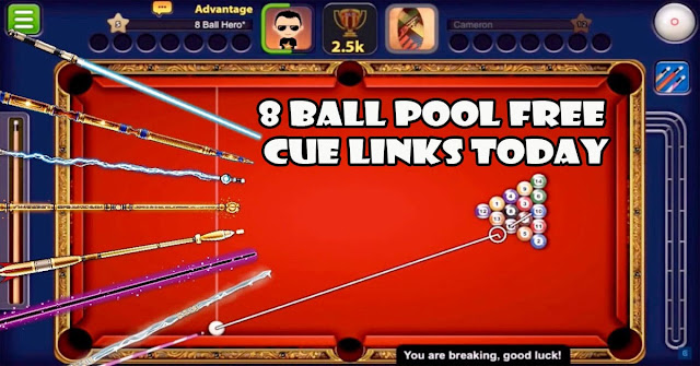 8 ball pool free cue links today