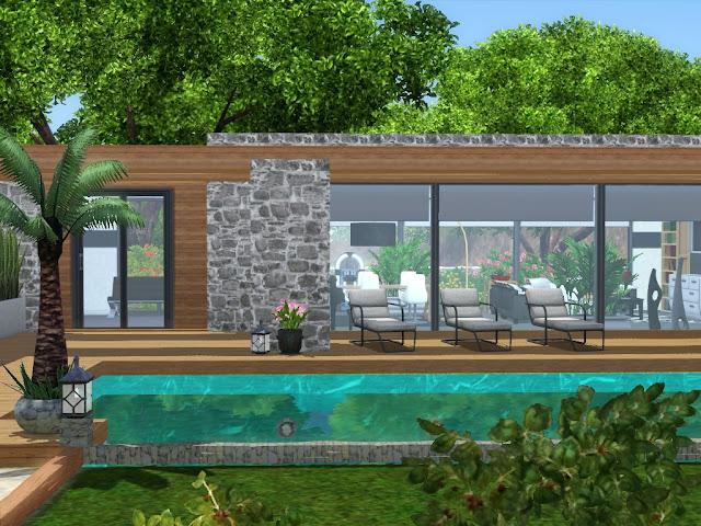 maison luxueuse avec piscine sims 3