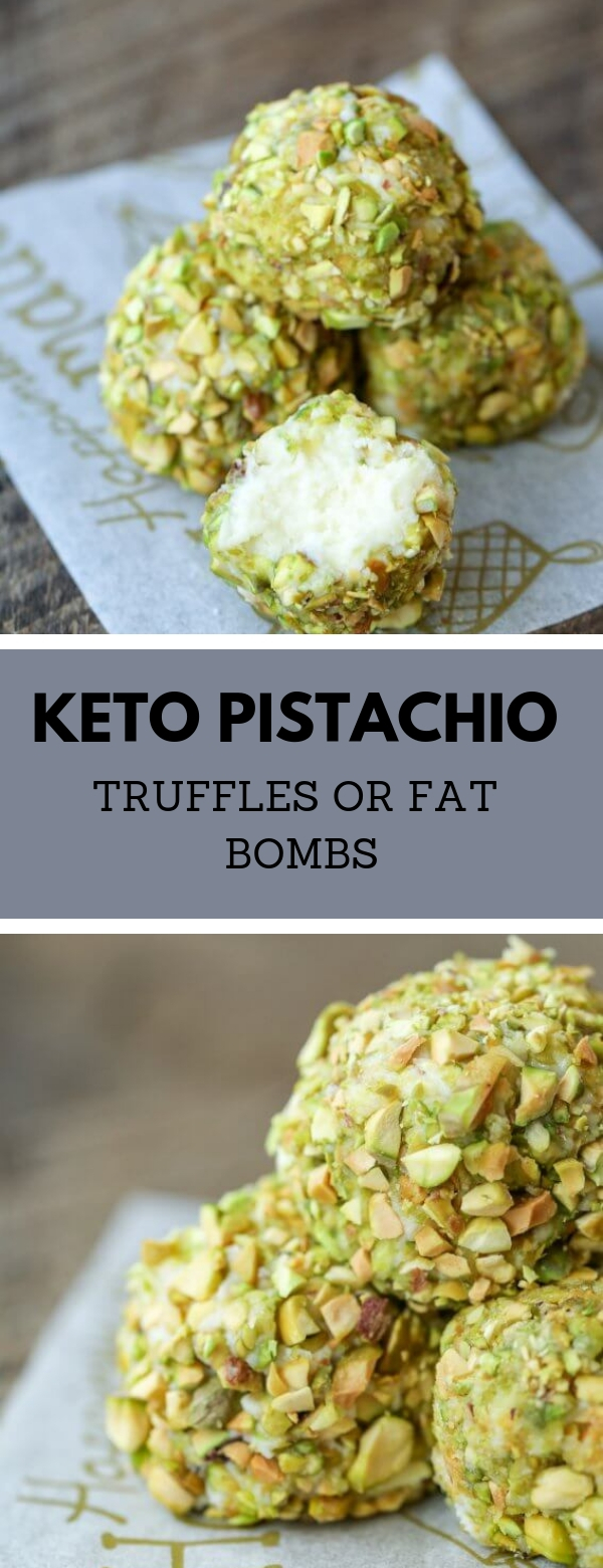 KETO PISTACHIO TRUFFLES OR FAT BOMBS #dessert #keto #lowcarb