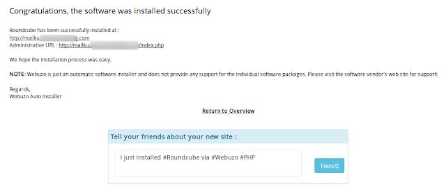 Cara Install Dan Setting Roundcube Di Webuzo