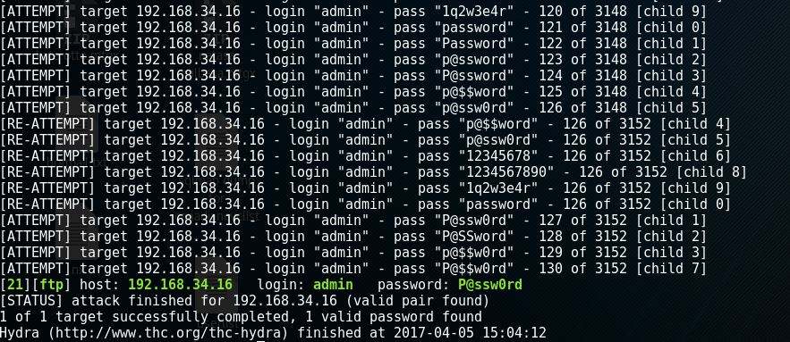 Brute Forcing Passwords with THC-Hydra - THU DINH