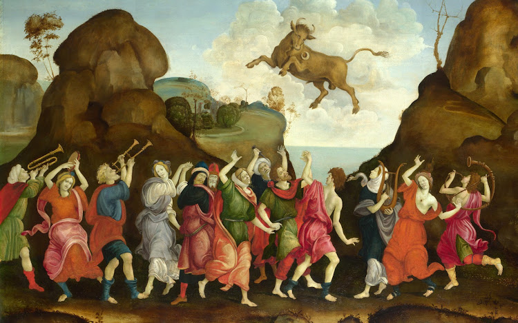 Follower of Filippino Lippi - The Worship of the Egyptian Bull God Apis