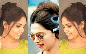 1 Min TOP Messy Bun Hairstyle Inspired By Deepika Padukone | DIY Quick Messy Bun