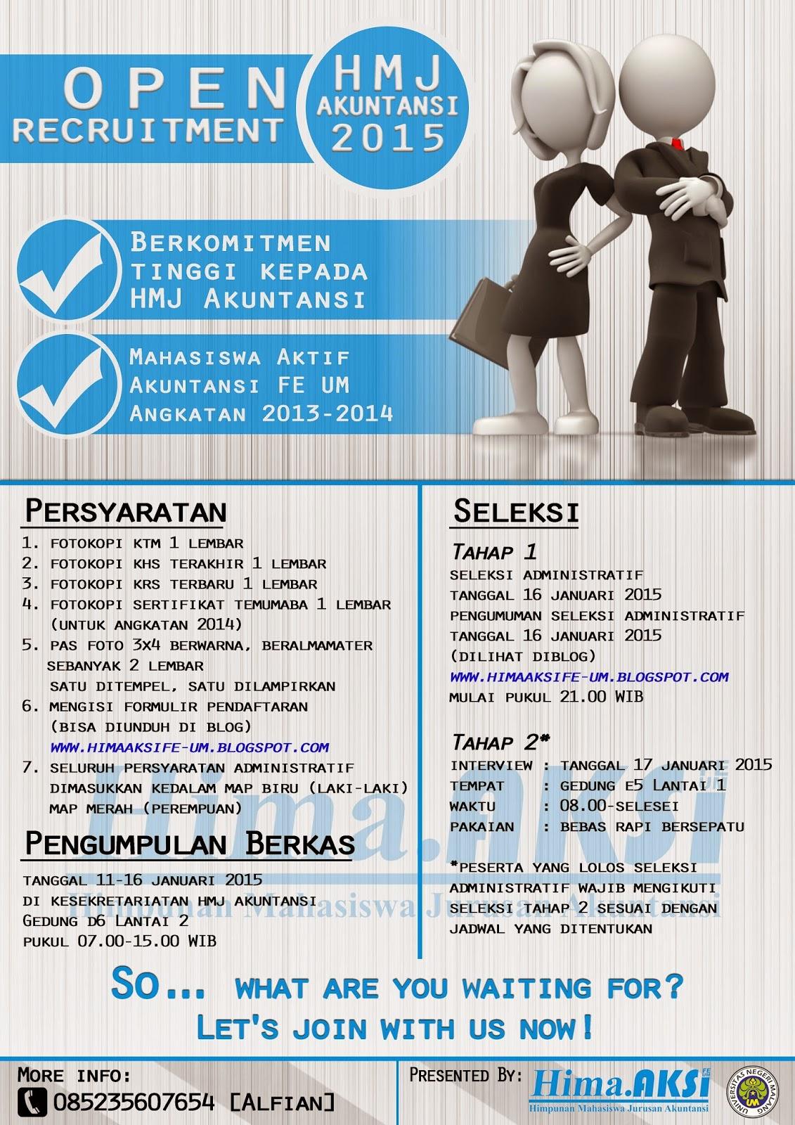Open Recruitment Pengurus Hima Aksi Periode 2015 Blog Non Aktif