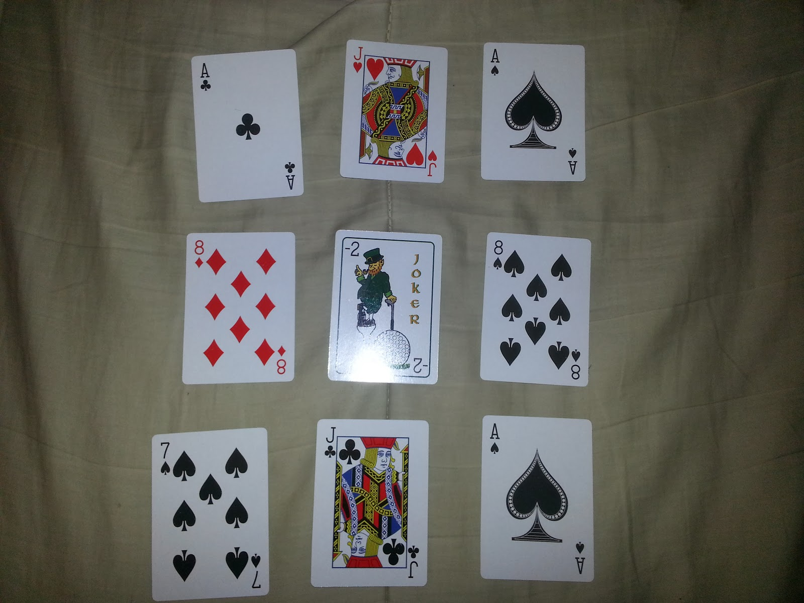 Paddy O'Shea's Golf Card Game Hand
