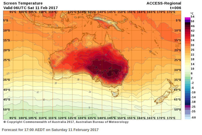 colour scale confusion in australian heatwave maps