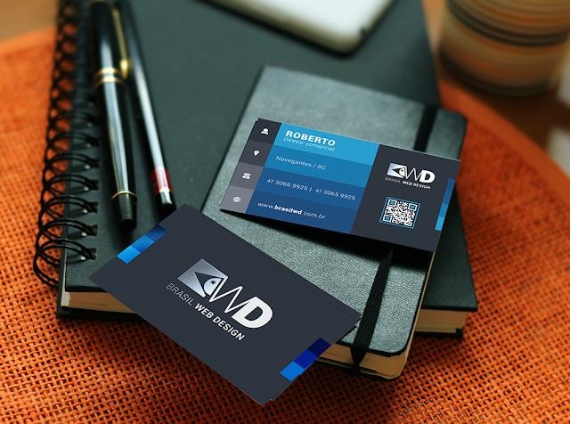 Cartão de visita e folder - Brasil WD