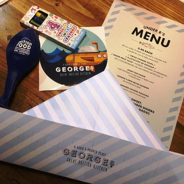 Under 8s menu at Georges GBK