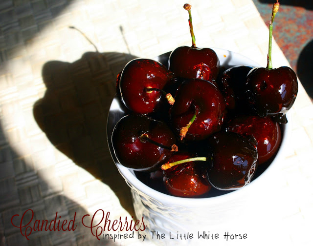 Candied Cherries inspired by The Little White Horse