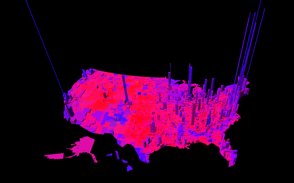 Purple America Map.Pillar To Post Archive Purple America The Real Red Blue Maps Of
