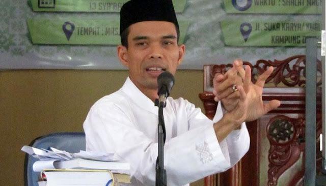 Pendukung Jokowi Tuduh Ustad Abdul Somad Hina Nabi Muhammad