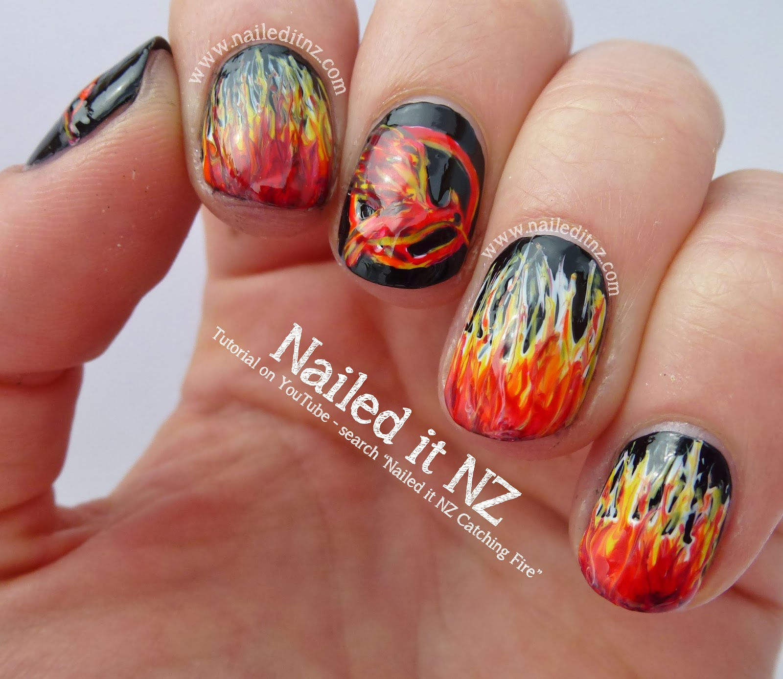 Nail Art Quote: Catching Fire Nail Art, Quotes & Tutorial