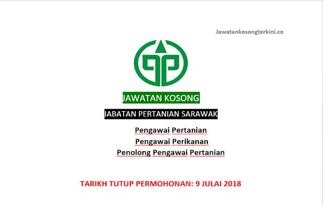 Jawatan Kosong Jabatan Pertanian Sarawak 2018