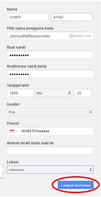 Cara buat email gmail Indonesia