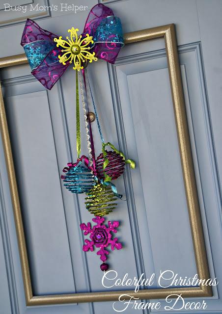 Colorful Christmas Frame Decor