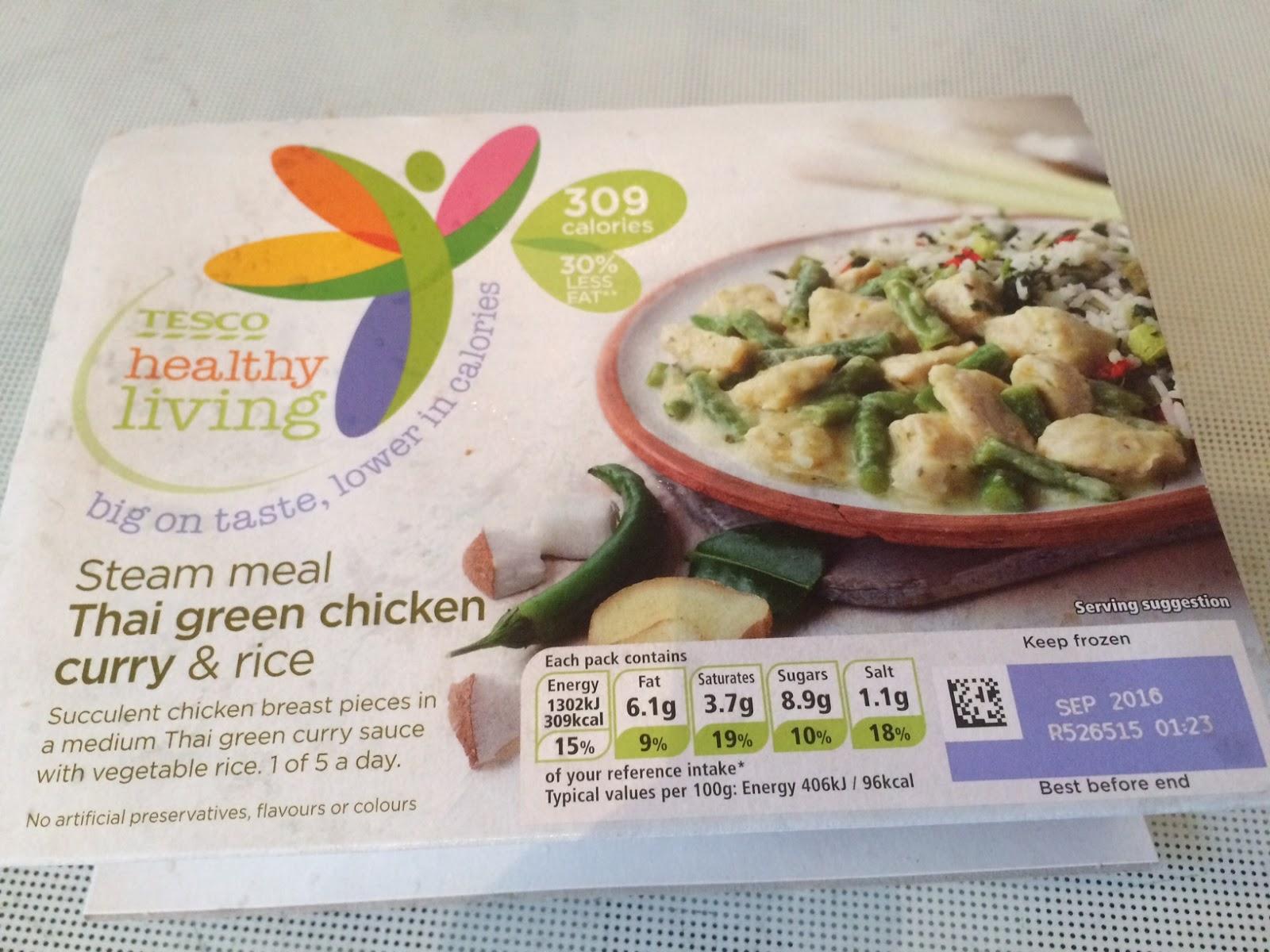 Online Reviews Tesco Frozen Healthy Living Thai Green