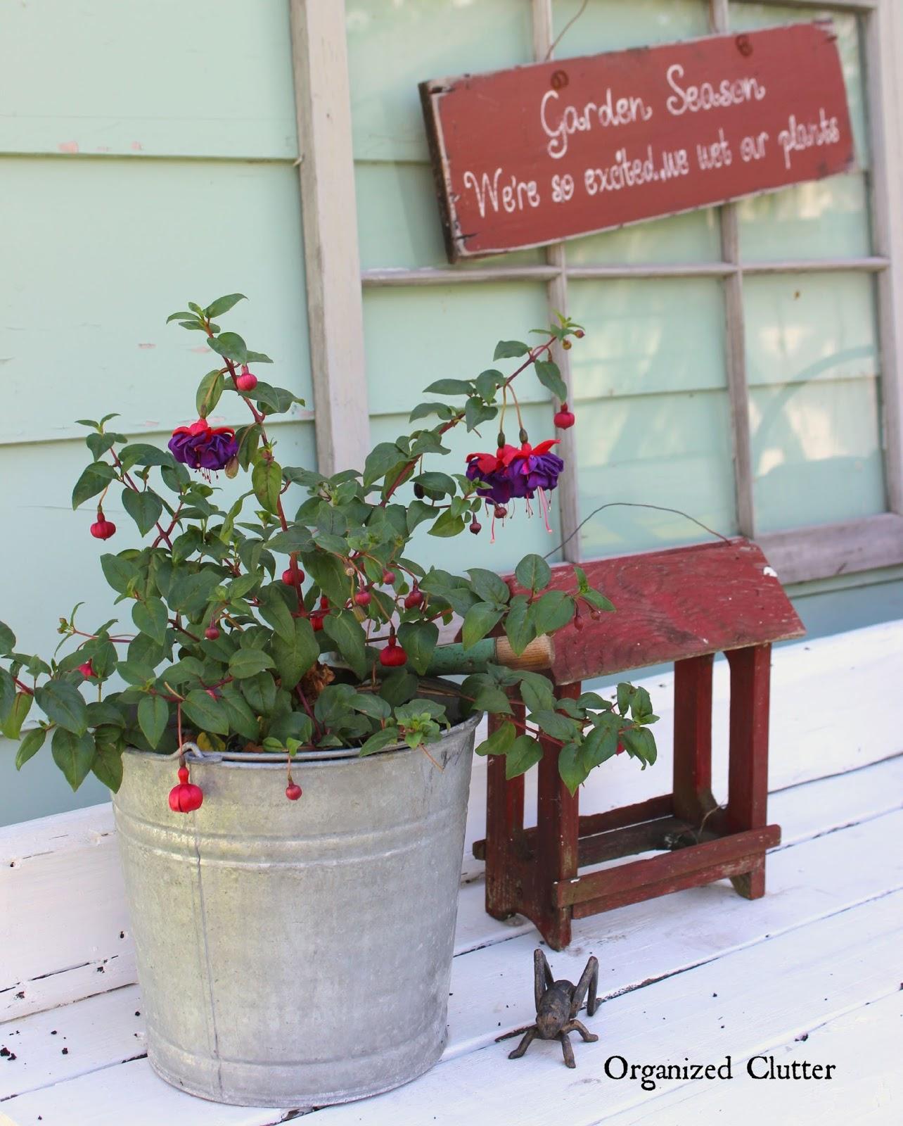My Friend Danita S Rustic Garden Decor Organized Clutter