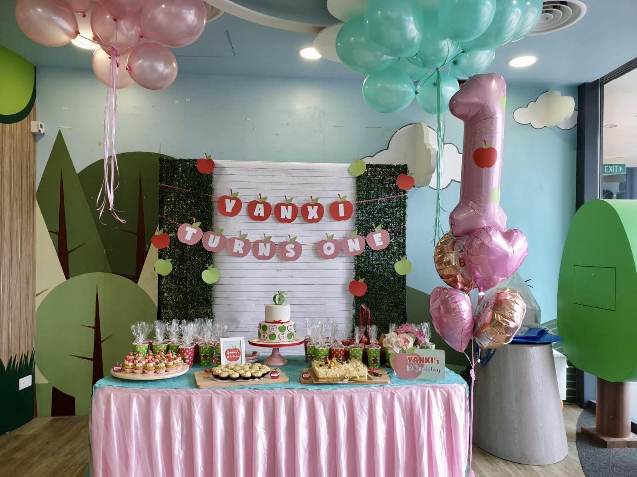 The Sensational Cakes Apple 3d Design For 1st Birthday Girl