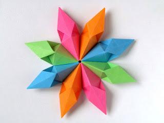 Origami modulare Stella aquilone 8 moduli - Kite Star 8 modules lby Francesco Guarnieri