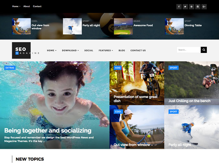 Seo Sports Mag Blogger Template | Blogger Templates Gallery