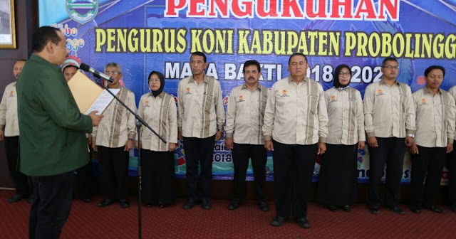 Pengurus KONI Kabupaten Probolinggo Dikukuhkan