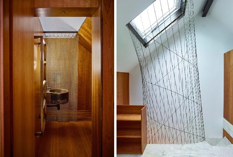 bagno e stanza in mansarda