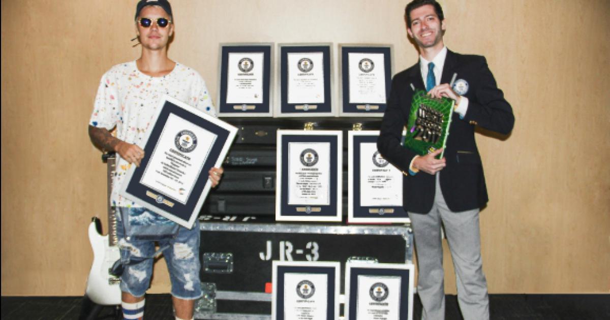 8 records du monde pour Justin Bieber