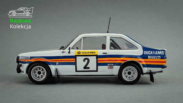 IXO Altaya Ford Escort MkII RS1800, Winner of 1000 lakes rally 1981