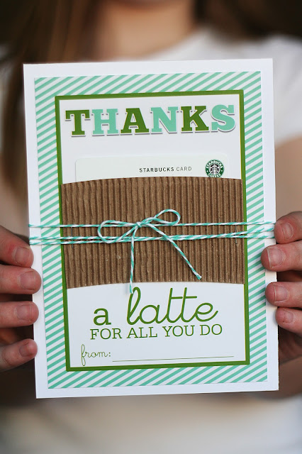 Coffee gift card holder