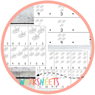 bee count to 10 math worksheets