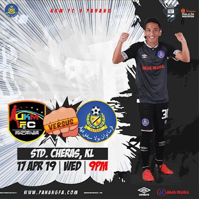 Live Streaming UKM FC vs Pahang FA Piala FA 17.4.2019