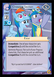 My Little Pony Cheering Section Friends Forever CCG Card