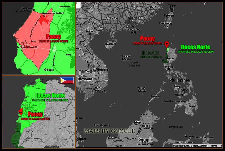 MAP OF PAOAY, ILOCOS NORTE