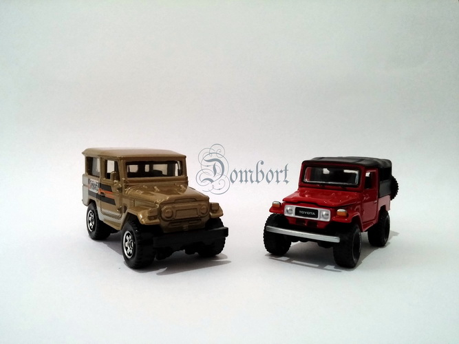Matchbox Toyota Land Cruiser vs Johnny Lightning Toyota Land Cruiser