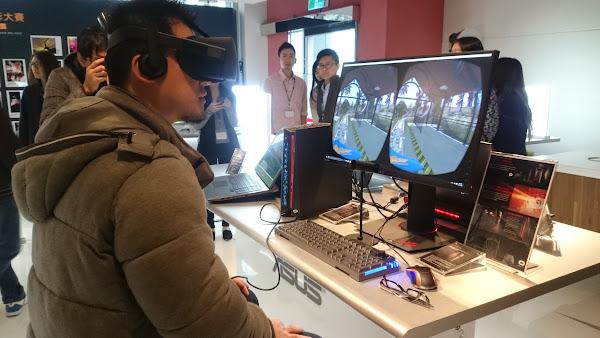 華碩17日舉辦法說會,並展示Oculus Rift與ROG電腦,讓法人體驗AR/VR的魅力