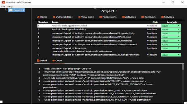 Yaazhini - مجانا الروبوت APK و API ماسحة الضعف