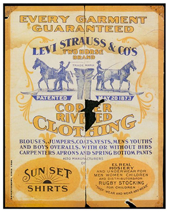 Levi's vintage flyer