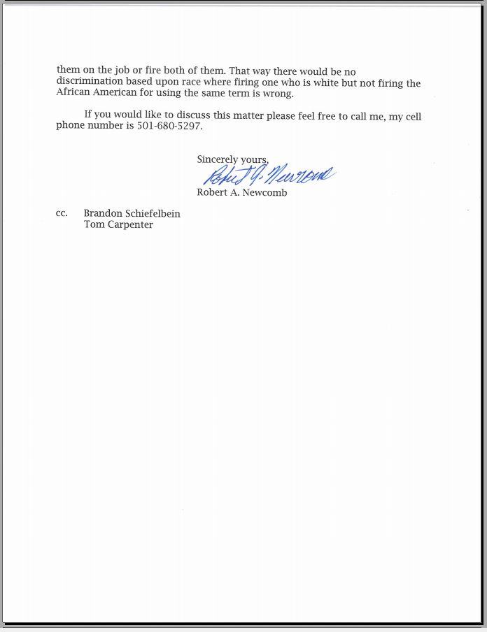 Click Here To View The Letter And Attachments.  Letter Of Firing