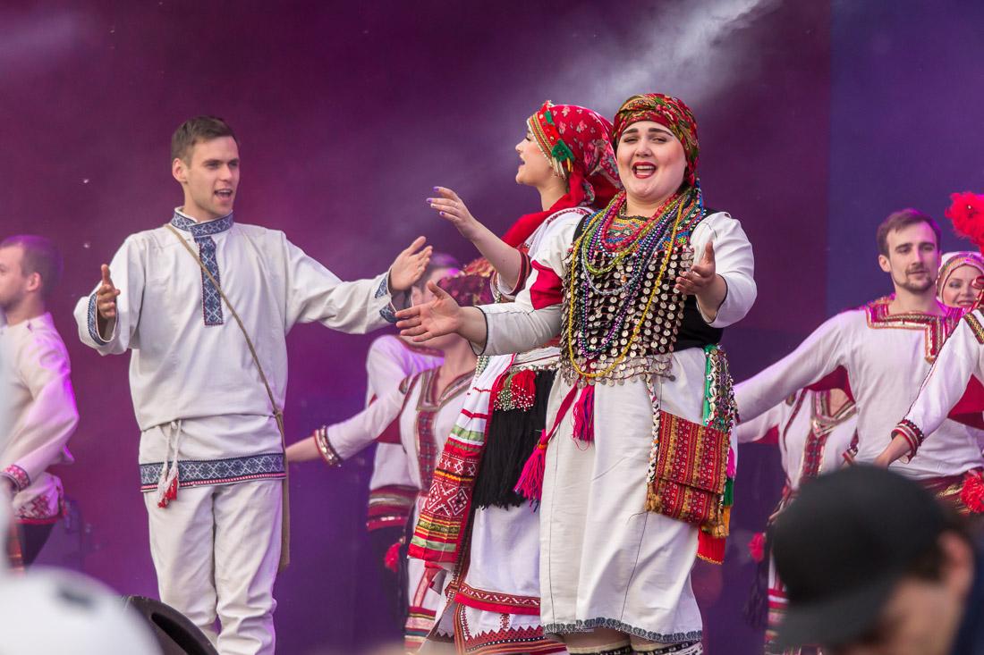 Мордовская музыка на открытии фан-феста в Саранске