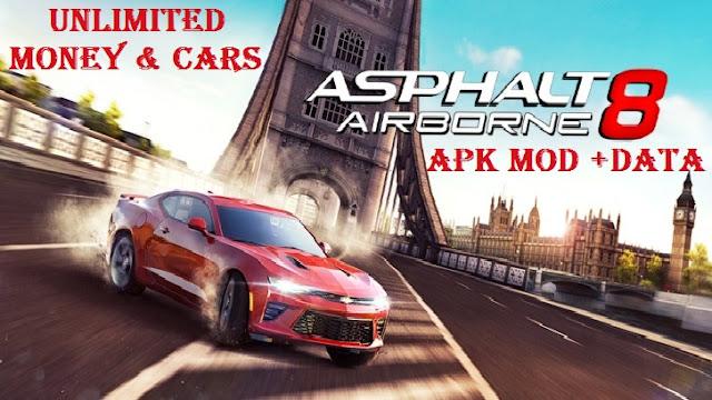 Download Asphalt 8 Airborne Apk Mod Data for Android