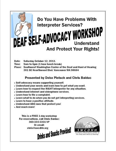 Deaf Self-Advocacy Workshop (WA)