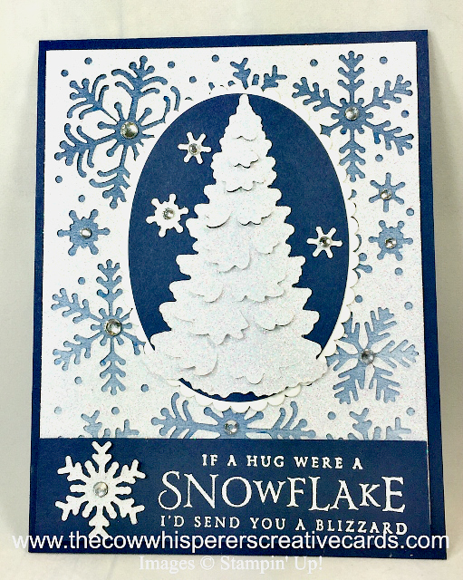 Card, Beautiful Blizzard, Winter Woods, Snowflakes
