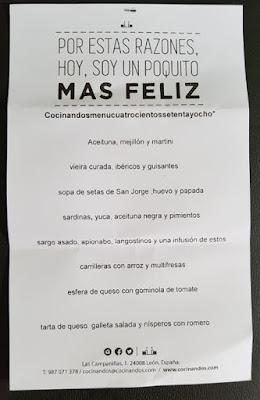 COCINANDOS (LEÓN) 1 ESTRELLA MICHELIN
