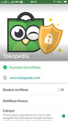 Tokopedia Kini Menggunakan Akun WhatsApp Bisnis Terverifikasi