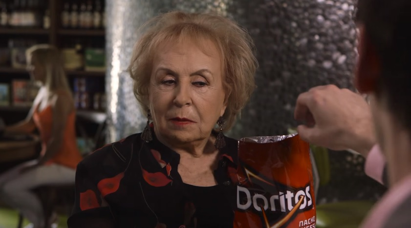 "Doritos 2016 Crash The Super Bowl ""Swipe for Doritos"" Commercial Featuring Doris Roberts"