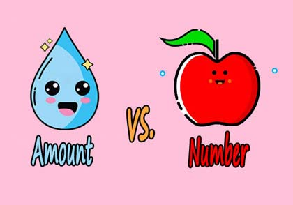 amount vs number