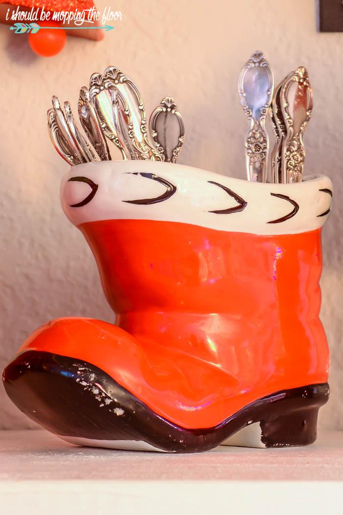 Ceramic Santa Boot